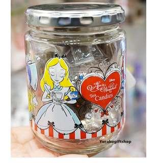 DISNEY 迪士尼 ALICE 愛麗絲 糖果玻璃樽 妙妙貓 時間兔