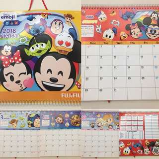 Disney 2018 Calendar (掛牆月曆)