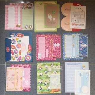 全新絕版Sanrio Hello Kitty各款信紙信封 - 全新  - 每套有一個信封,二張信紙 $3 一套