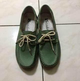 綠色休閒平底鞋