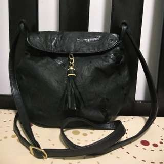 Leather sling bag from Japan