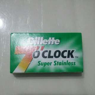 Gillette 7 O'Clock DE Blades