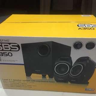 BNIB Creative A350 2.1 loud speaker with superb Bass