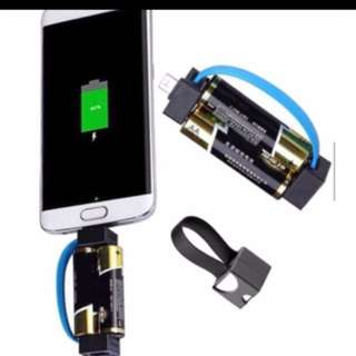 Emergency Phone Charger Portable Magnetic Travel Micro USB