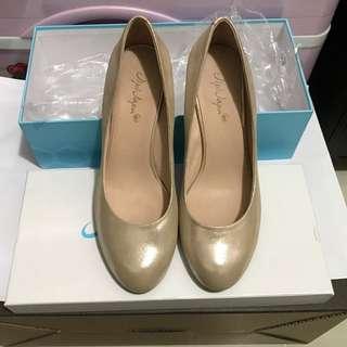 全新JipiJapa金色 3寸高踭鞋 size245 包順豐