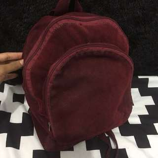 Backpack Maroon bulu