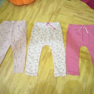 F&F leggings set of 3 size: 18 to 24 mos
