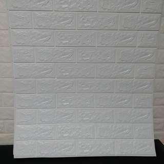 纯白色好易貼牆貼,防塵,防菌,防水,size(70cmX77cm)