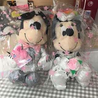 全新米奇老鼠結婚公仔正版