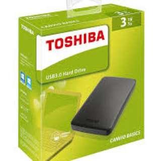 Toshiba Canvio Basics 3TB 外置硬盤