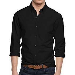 Authentic Calvin Klein CK Black Long Sleeve Shirt (Size 15.5