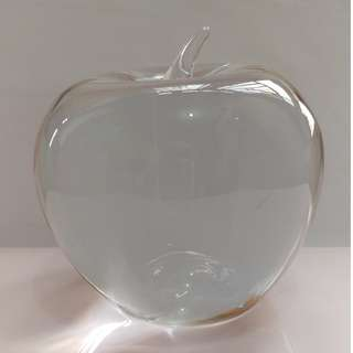 Tiffany Apple Paperweight in lead crystal