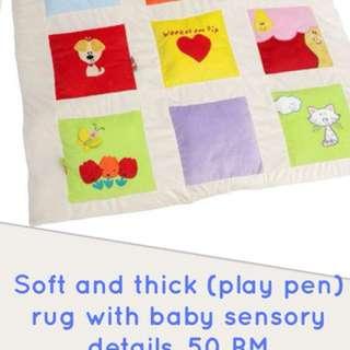 Thick and soft sensory rug