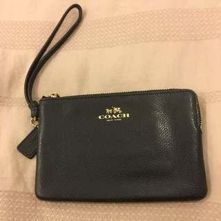 Coach Wristlet Leather - Black