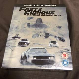 Fast & Furious 8 movie collection bluray