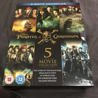 Pirates of the Caribbean 5 movie collection bluray