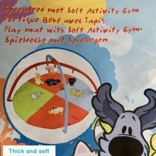 Playmat mat with soft activity gym