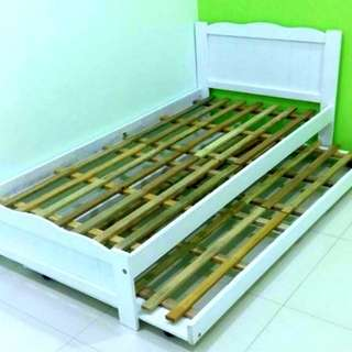 SINGLE BED FRAME + PULL OUT
