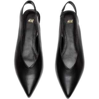 H&M Black Slingback Shoes Original