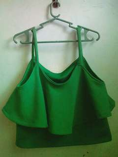 Green crop top :)