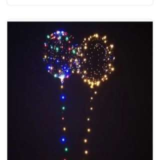 Lighted led balloons; night balloons