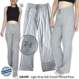 Under Armour Light Grey Soft Cotton Marled Pants