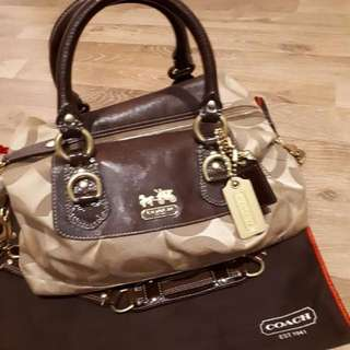 Preloved Authentic Khaki Color Coach bag