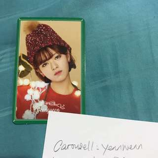 Twice Jeongyeon Merry & Happy Official Photocard Special Version