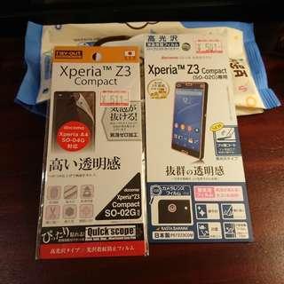 Xperia Z3 compact 日本製 保護貼