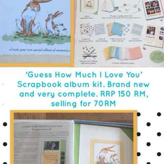 'Guess How Much I Love You' Scrapbook album kit