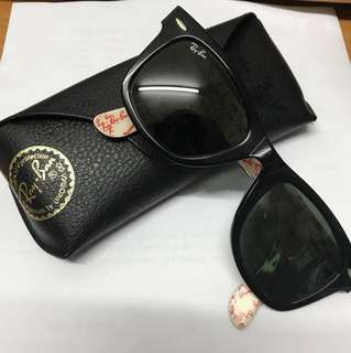 Rayban 黑色粗框 太陽眼鏡