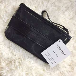 Burberry 網紗化妝袋 (細size)
