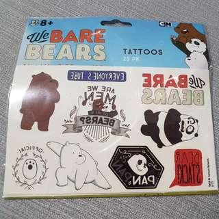 Brand New In Plastic We Bare Bear Tattoos (25 Design)