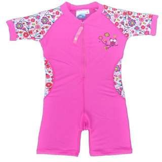 Girls Sun-safe Swimsuit With Front Zipper