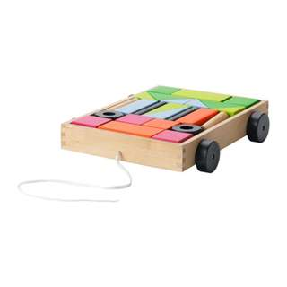 [IKEA] MULA 24 Building Blocks with Wagon