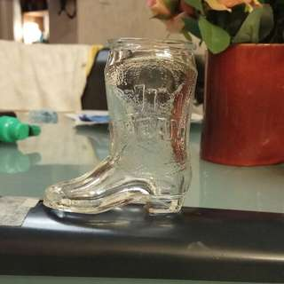 'Jim Beam' glass boot