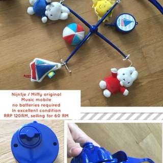 Miffy / Nijntje Music mobile (no batteries required)