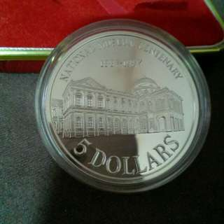 1987 $5 Silver Proof Coin National Museum