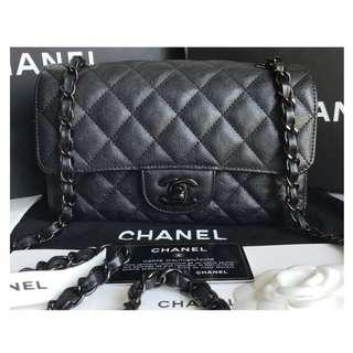 Authentic Chanel Mini Rectangle So Black