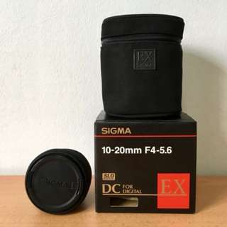 Sigma (NikonMount) 10-20mm f/4-5.6 EX DC HSM