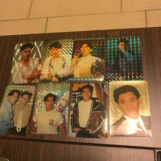 Andy Lau Jacky Cheung Leon Lai collectible cards