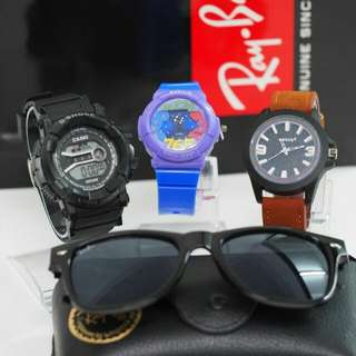 Set watch 4 in 1 with rayban