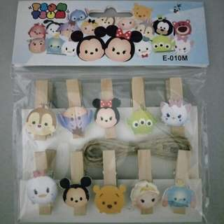 Tsum tsum wooden pegs (negotiable)