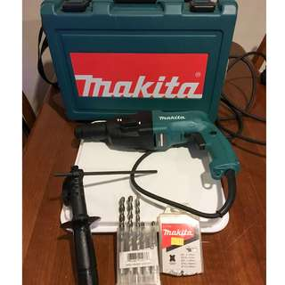 Makita HR2020 SDS Rotary Hammer Drill Plus Accesories