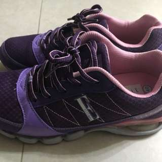 低價出售~專櫃ELLE紫色氣墊鞋