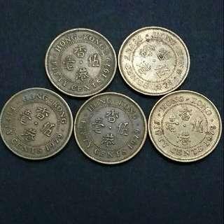 香港女皇頭硬幣 1979年五毫