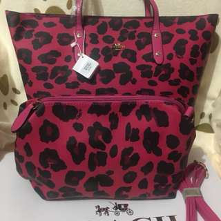 Coach bag with sling bag