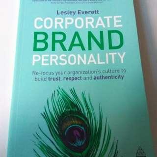 Buku Import Corporate Brand Personality