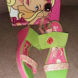 Barbie fuschia/green wedge size:11,12,4