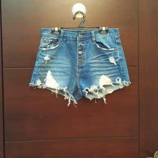 牛仔短褲(M)